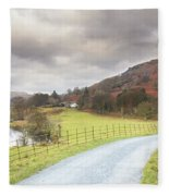 Country Lane In The Lakes Fleece Blanket
