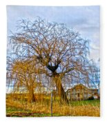 Country Life Artististic Rendering Fleece Blanket