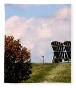 Country Life - Evening Relaxation Fleece Blanket