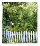 Country Picket Fence Fleece Blanket