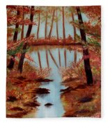 Country Reflections Fleece Blanket