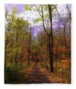 Country Road In Autumn Fleece Blanket