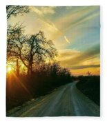 Country Road Please Take Me Home Fleece Blanket