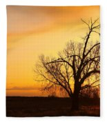 Country Sunrise Fleece Blanket