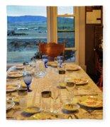 Country Table Setting Fleece Blanket
