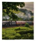 Country Train Ride Fleece Blanket