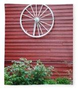 Country Wheel Fleece Blanket