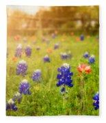 Country Wildflowers Fleece Blanket