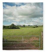 Countryside In Wales Fleece Blanket