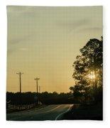 Countryside Sunset Fleece Blanket