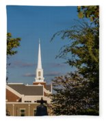County Courthouse Bell And Church Spire Fleece Blanket