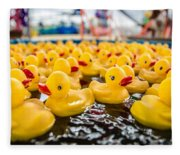 County Fair Rubber Duckies Fleece Blanket