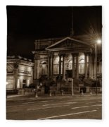 County Sessions House By Night Liverpool Fleece Blanket