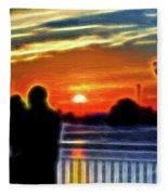 Romantic Sunrise. Fleece Blanket