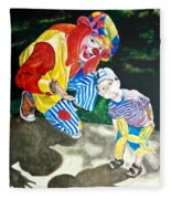 Couple Of Clowns Fleece Blanket