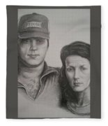 Couple Portrait 2 Fleece Blanket
