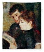 Couple Reading Fleece Blanket