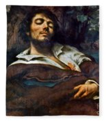 Courbet: Self-portrait Fleece Blanket