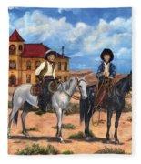 Courthouse Cowboys Fleece Blanket