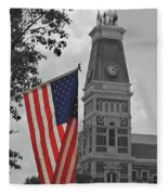 Courthouse In America Fleece Blanket
