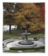 Courthouse Square In Rockville Maryland Fleece Blanket