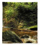 Courthouse Waterfall Fleece Blanket