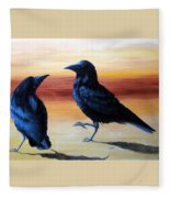 Courting Crows Fleece Blanket