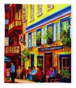 Courtyard Cafes Fleece Blanket