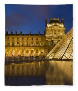 Courtyard Musee Du Louvre - Paris Fleece Blanket
