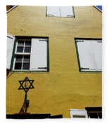 Courtyard Of Curacao Synagogue Mikve Israel-emanuel Fleece Blanket