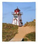 Covehead Harbour Lighthouse 5701 Fleece Blanket