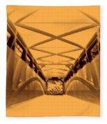 Covered Bridge 3 Fleece Blanket