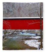 Covered Bridge Along The Wissahickon Creek Fleece Blanket