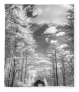 Covered Bridge Dupont North Carolina Fleece Blanket