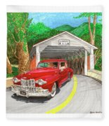 Covered Bridge Lincoln Fleece Blanket