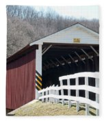 Covered Bridge Pa Fleece Blanket