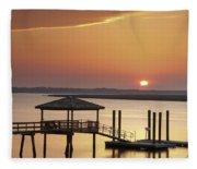 Covered Dock Fleece Blanket