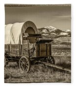 Covered Wagon Fleece Blanket