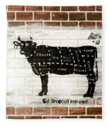 Cow Cuts Fleece Blanket