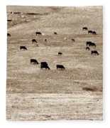 Cow Droppings Fleece Blanket