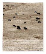 Cow Droppings Fleece Blanket
