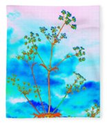 Cow Parsley Blossom 2 Fleece Blanket
