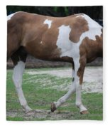 Cow Spotted Horse Fleece Blanket