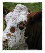 Cow Tongue Fleece Blanket