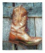Cowboy Boot Rack Fleece Blanket