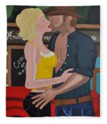 Cowboy Kiss Fleece Blanket