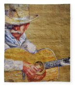 Cowboy Poet Fleece Blanket