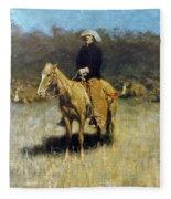Cowboy Singing Fleece Blanket