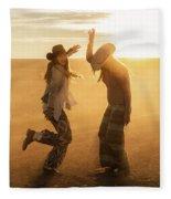 Cowgirl Dance Fleece Blanket