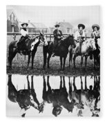 Cowgirls, 1907 Fleece Blanket